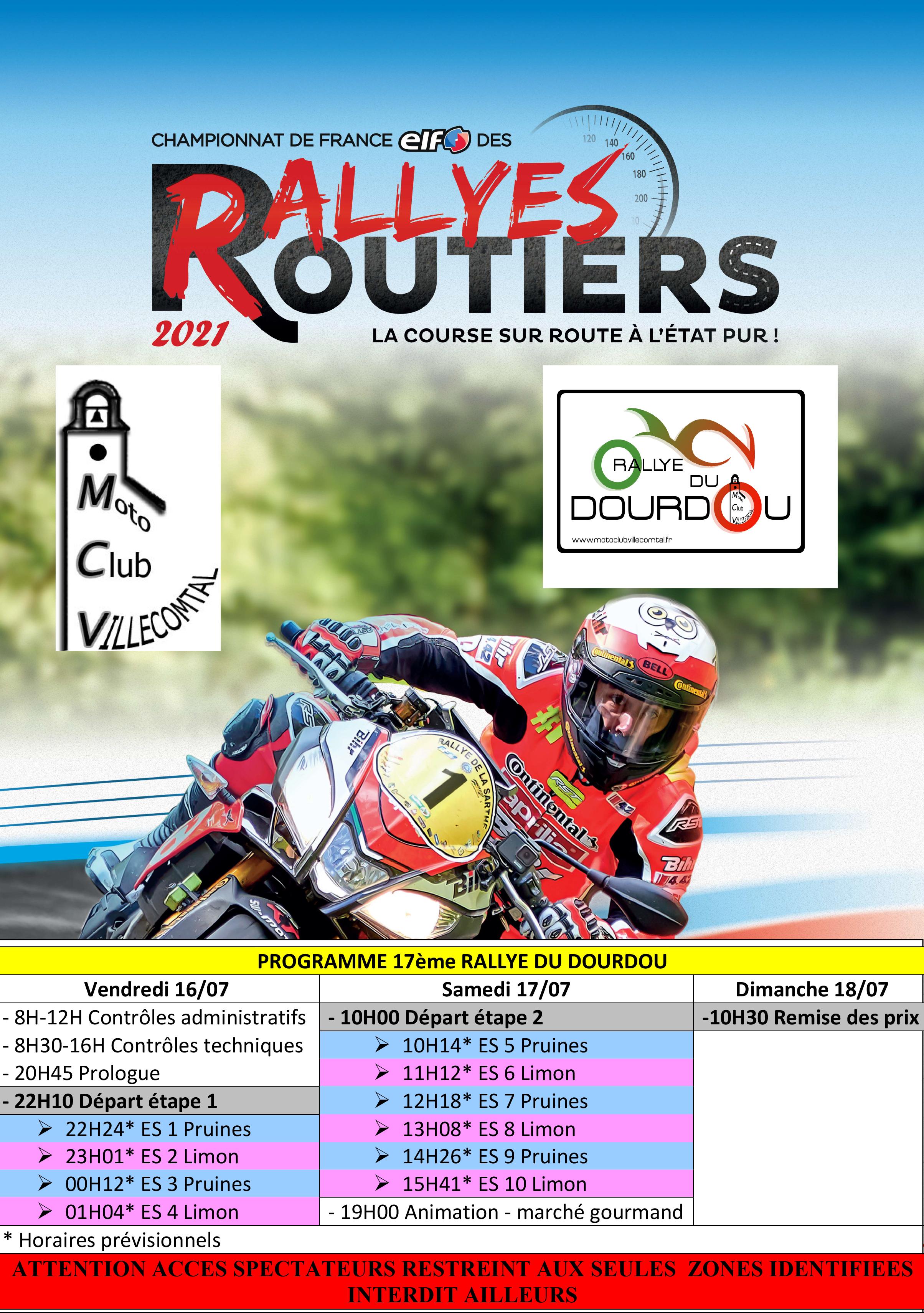 Programme du 17ème Rallye du Dourdou